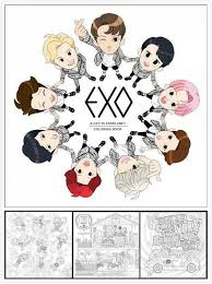 SM Entertainment Has Joined The Adult Coloring Book Party By Releasing Their First EXO A DAY IN EXOPLANET Featuring Boy Group