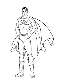 Click To Print Preview Superman Coloring Page