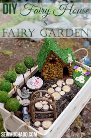 DIY Fairy House In A Wood Crate