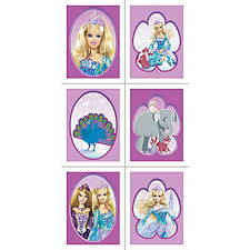 Barbie Island Princess Stickers 4 Sheets By Hallmark Stickers