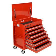 Premium Full Drawer Service Cart - Red | Sunex Tools
