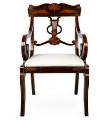 Lyre Back Chairs History by A Fancy Sheraton Style Chair With Some Modern Day Upholstery