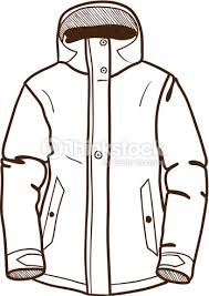 Winter sport jacket isolated on white Vector Art