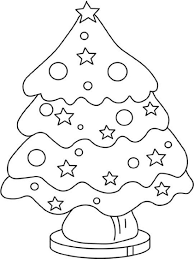 Christmas Tree Coloring Page Print Out by Christmas Trees Colouring Easy Christmas Tree Coloring Pages For