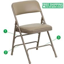Advantage Beige Padded Folding Chair - Beige 1-in Vinyl Seat  [HA-MC309AV-BGE-GG] Gci Outdoor Quikeseat Folding Chair Junior New York Seat Design 550 Each 6pcscarton Offisource Steel Chairs With Padded And Back National Public Seating Grey Plastic Safe Set Of 4 50x80 Cm Camping Fishing Portable Beach Garden Cow Print Wood Brown Color 4pk Chair Terje Black Replacement Vinyl Pad For Resin Wooden Seat Over Isolated White Background Mahogany