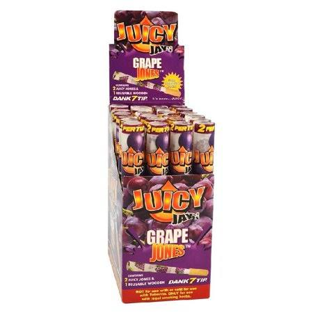24pc Display - Juicy Jay's Pre-Rolled Cones - Grape (2 Cones per Pack)
