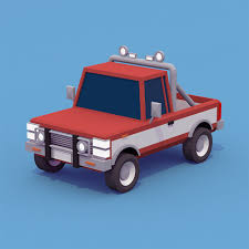 Pickup Truck Low-poly In 2018 | DUBL Fargo Style | Pinterest | Low ...
