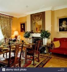 wohnzimmer im country stil stockfotografie alamy