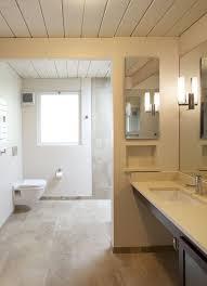 Mid Century Modern Bathroom Vanity Light by San Francisco Wall Mount Toilet Bathroom Midcentury With Tile Up