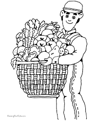 Thanksgiving Food To Print Coloring Pages
