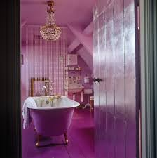 Modern Chandelier Over Bathtub by Pink Bathroom Photos 40 Of 48