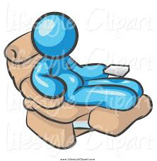 Clipart Of A Chubby Lazy Light Blue Man Sitting In Recliner Chair Oueows