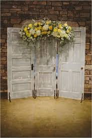 Wedding Ceremony Of Yellow White And Silver Pallet Backdrop With