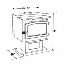 Diagram With Measurements Of Wood Stove