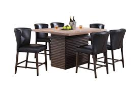 Fleming Pub Table + 6 Brown Pub Stools At Gardner-White