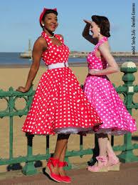 1950s halterneck red white polkadot dress from vivien of holloway