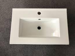 badezimmer waschbecken keramik weiß neu