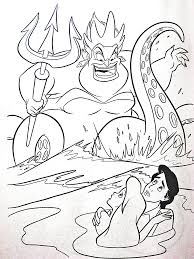 Little Mermaid Coloring Pages Ursula 3