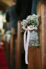 Claire Pettibones Larissa For A Delightful Homemade DIY Wedding In The Countryside Church Pew DecorationsWedding