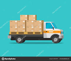 100 Delivery Truck Clipart Truck With Parcel Cargo Boxes Vector Illustration Flat