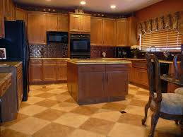 beautiful kitchen tile floor ideas design beige tile pattern