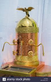 Ornate Brass Copper Espresso Cappuccino Machine