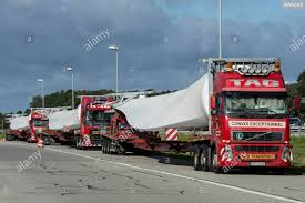 100 Heavy Duty Truck Parking GERMANY Convoy Of Heavy Duty Trucks With For A Wind Turbine On A