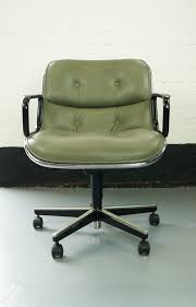 Knoll Pollock Chair Vintage by Vintage Charles Pollock Knoll Silver Grey Leather Executive Chair