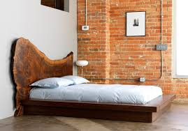 Rustic Cherry Wood Slab Headboard Image Engaging Furniture For Bedroom Design And Decoration With Full Platform Bed Frames Great Of