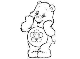 Care Bears Activity Smiling Harmony Coloring Sheet Full