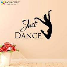 Just Dance Wall Stickers Home Decor Ballet Dancer Decal Studio Art Decoration Girls Bedroom Dorm Wallpaper In From