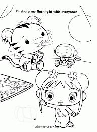 Ni Hao Kai Lan Printable Coloring Page