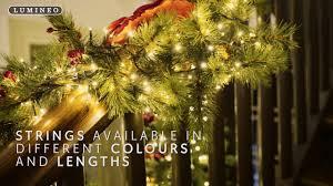 Twinkling Christmas Tree Lights Uk by Uk Christmas World Lumineo Led Compact Lights Youtube