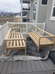 Plans For Yard Furniture by 25 Best Diy Outdoor Furniture Ideas On Pinterest Outdoor