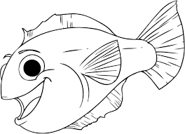Fish Coloring Pages Cartoon