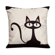 Decorative Couch Pillows Amazon by Overdose Home Decoration Cute Cat Pillow Case Cushion Cover No