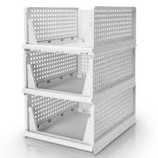 yorbay stapelbare schubladenbox kleiderschrank organizer