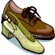 A Mens Shoe And Womans Royalty Free Clipart Picture