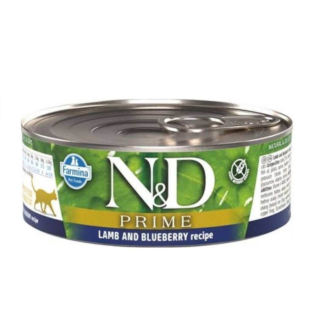 Farmina Natural & Delicious Prime Lamb & Blueberry Canned Cat Food, 2.8-oz Can, Case of 12