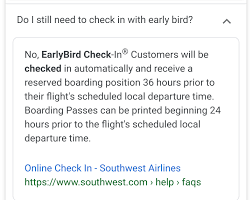 Solved: Early Bird Didn't Work? - Page 2 - The Southwest ...
