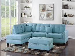 Poundex Bobkona Sectional Sofaottoman by 3 Piece Sectional Sofas Loveseats U0026 Chaises Ebay