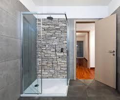 duschrückwand grober stein grau duschwand design wanddeko für dusche bad fliesen abdeckung deko set duschkabine m0311