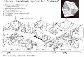 Make A Pokemon Kaleidocycle Folding Paper