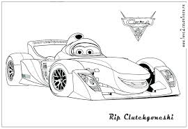 Lightning Coloring Pages Cars Printable Free