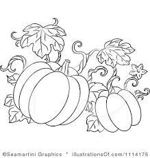 Royalty Free RF Pumpkins Clipart Illustration by Seamartini Graphics Stock Sample