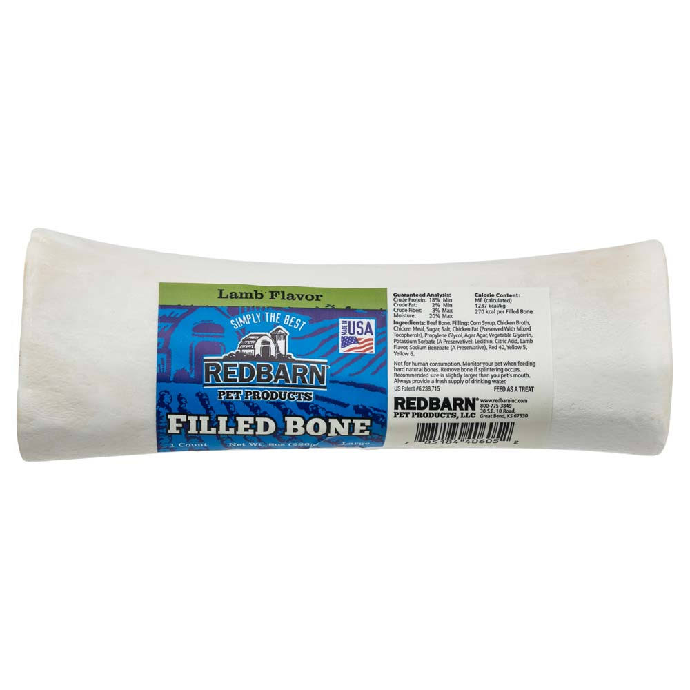 Redbarn Bone Large Filled Lamb