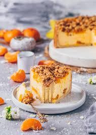 veganer mandarinen käsekuchen mit streuseln
