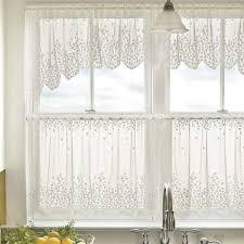 Battenburg Lace Curtains Ecru by White Lace Kitchen Window Curtains Ideas Cafe Curtains Tier