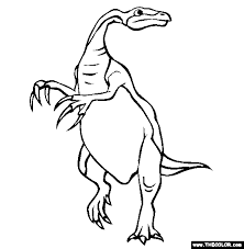 Therizinosaurus Online Coloring Page