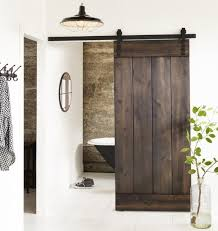 Barn Style Bathroom Door Rustic Modern Industrial